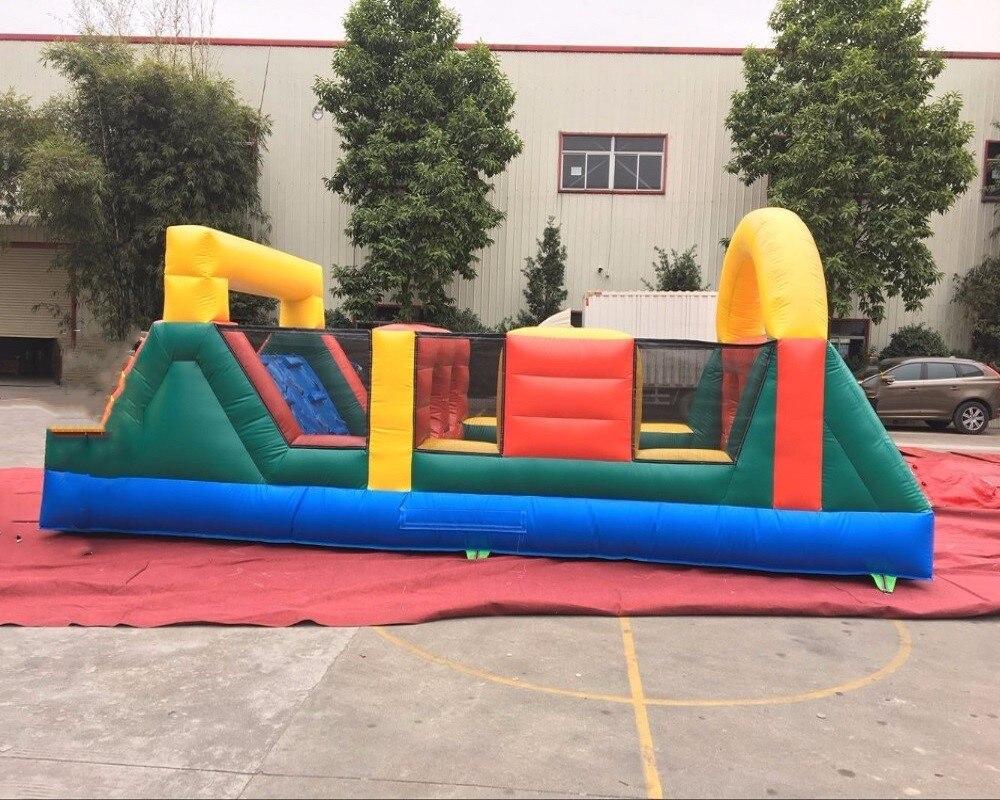 Parcours de combattant gonflable directement adapté aux besoins du client par usine de PVC/jeu d'obstacle gonflable