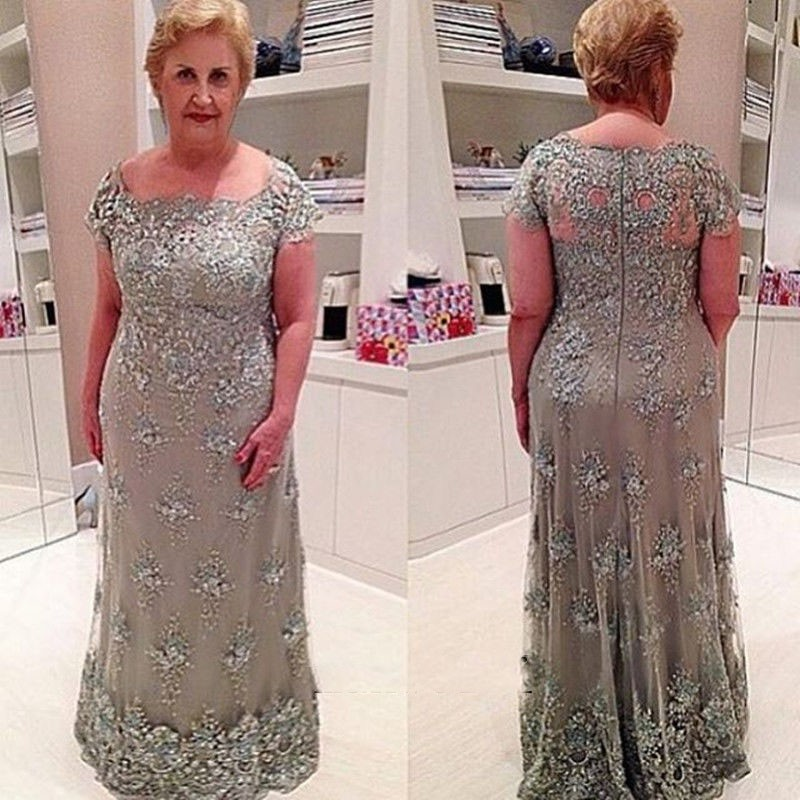 Mother Of The Groom Dress: Custom Made 2016 New Style Plus Size Lace Appliquel Mother