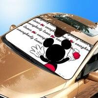 140 70cm Cute Cartoon Car Window Foils SUNUV Protection Fit For SUV Window Sunshade Micky Front