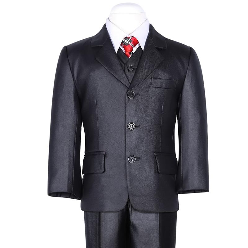 new fashion flash solid black three pcs boys pant+vest+vest formal suit blazer evan picone new turquoise three button crepe blazer 6 $129 dbfl