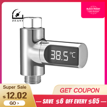 LW 101 LED Display Home Water Shower Thermometer Flow Water Temperture Monitor Led Display Shower Thermometers
