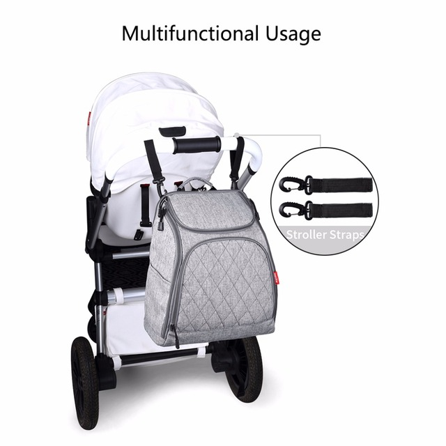 Multi-Functional Nylon Mummy Diaper Bags Baby Nappy Large ...