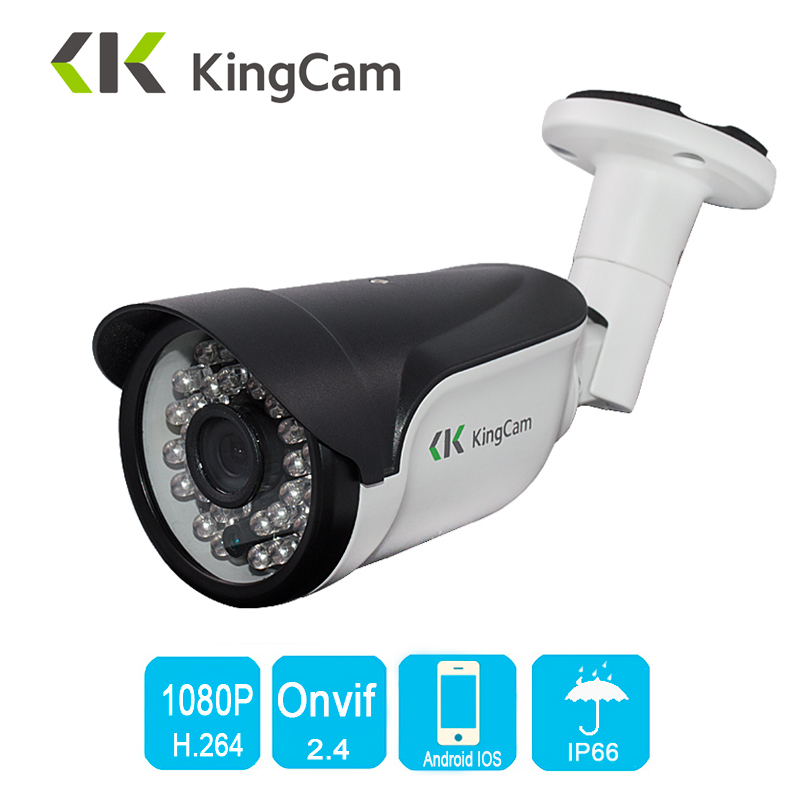 KingCam Metal HD Wide Angle 2.8mm lens 1080P 25fps Frames Outdoor Waterproof IP Camera ONVIF Bullet Security CCTV 2MP IP Cam wistino cctv camera metal housing outdoor use waterproof bullet casing for ip camera hot sale white color cover case