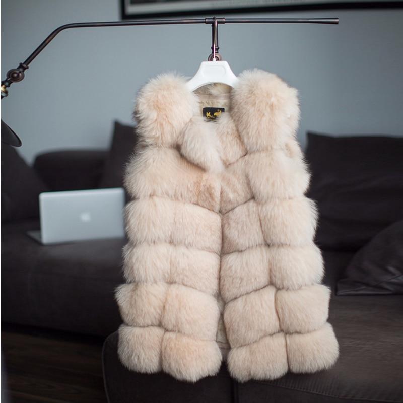 FURSARCAR Real Natural Fur Vest Kvinder Fox Fur Coat 2018 Ny Luksus - Dametøj - Foto 5