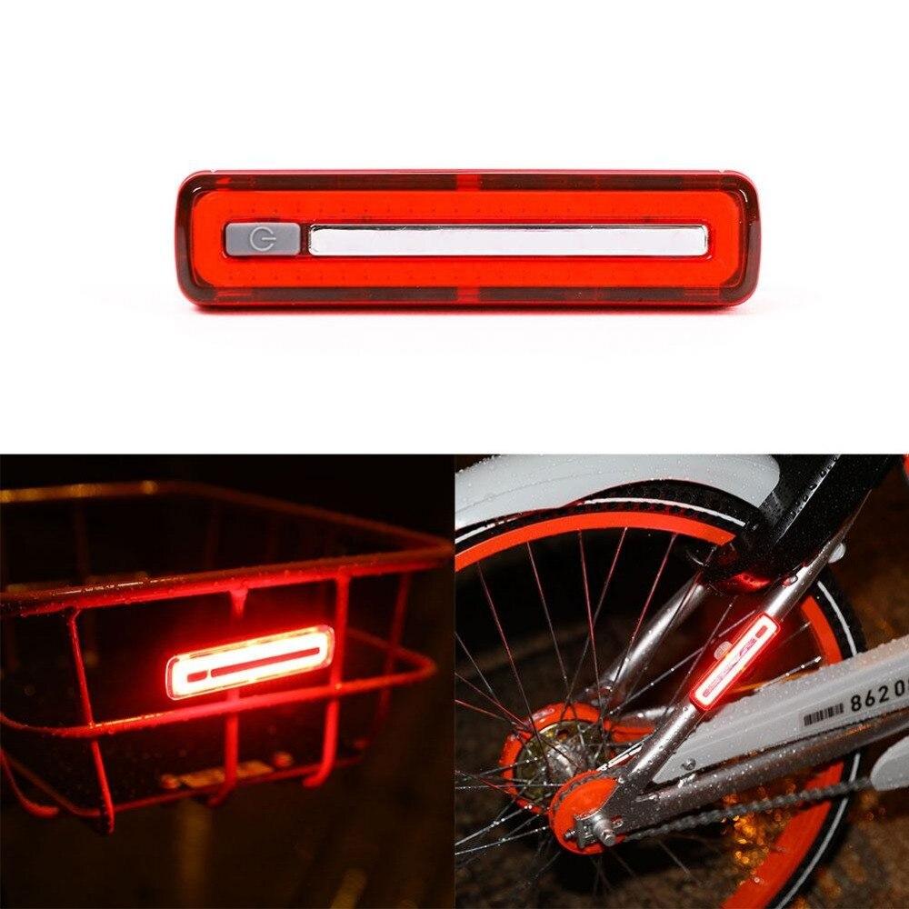 USB Мощность зарядки велосипед Велосипедный Спорт хвост задних сигнализации знак лампы удара Предупреждение свет