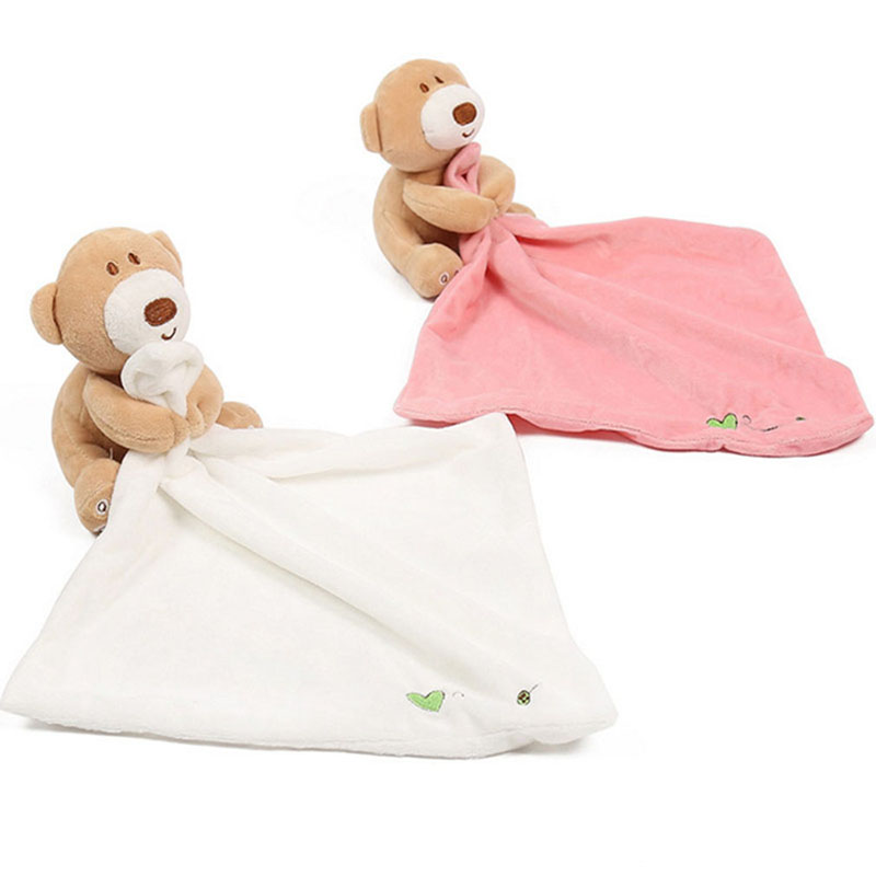 Creative New Baby Kids Comforter Washable Blanket Teddy Bear Soft Smooth Toy Stuffed Bear Baby Soothing Towel Doll