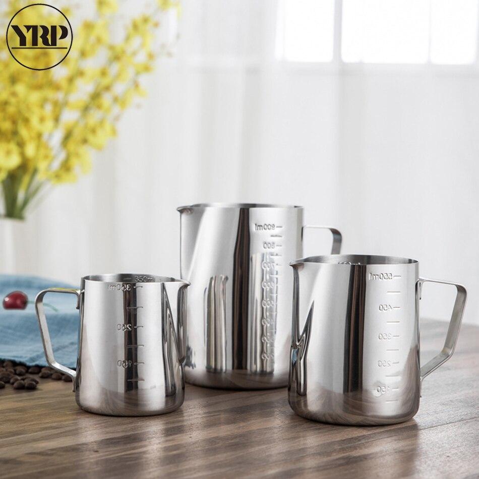 YRP Нержавеющая сталь насадка для взбивания молока кувшины эспрессо кофе кружки кувшин бариста чашки для капучино Craft чашка для латте кухня и...