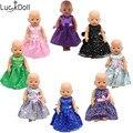 Luckydoll 8 шт Симпатичные аксессуары для кукол платье принцессы подходит для 43 cmbaby игрушки куклы Детская лучший рождественский подарок b7-b84 - фото