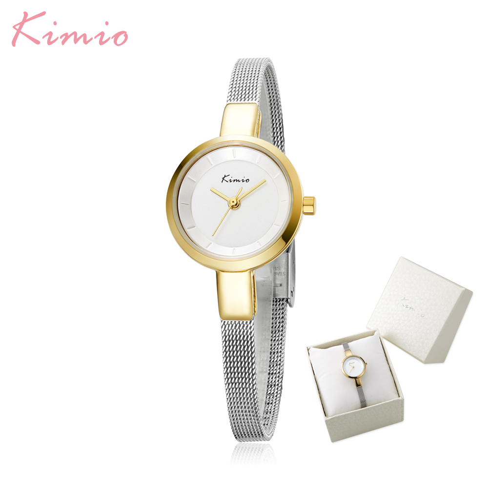 Luxury Brand Kimio Fashion Dress Women Watches Ladies Wristwatches Small Dial Quartz Clock Waterproof Stainless Steel Bracelet kimio women quartz watches leather dress watch fashion design ladies wristwatches 2017 luxury brand female gift clock kw518