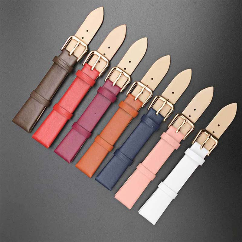 1PC  Watch Strap Leather Watches Band Smooth 12MM/14MM/16MM/18MM/20MM/22MM High Quality Men And Women Popular Hot Sale