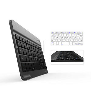 Backlit Illuminated Wireless Bluetooth Keyboard Chargeable for IOS Android Windows Stylish Design Perfect Travel Accessory