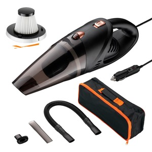Image 5 - Kit de aspiradora de mano para coche, alta potencia, 5000pa, 12v, en húmedo y seco, succión potente, alfombra automotriz de 120w