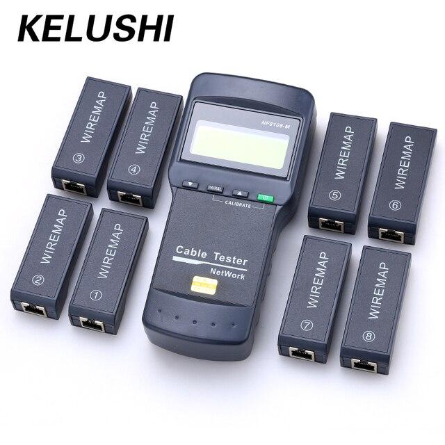 KELUSHI NF-8108M Multifunction Cat5 RJ45 Network LAN Phone Cable Tester Meter  Mapper 8 pc Far End Test Jack English operation