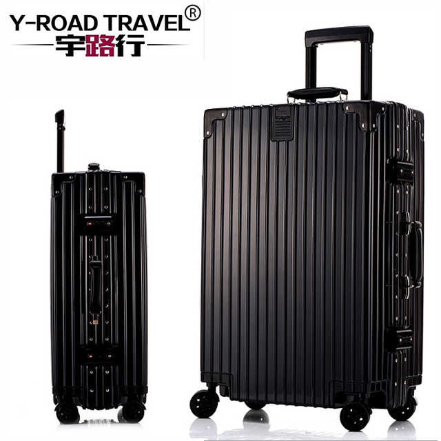"""2017 New 20""""22''24""""26""""29""""Aluminum Frame&Drawbars TSA Retro Travel Trolley Case Rolling Luggage Bags Suitcase With Wheel For Sale"""