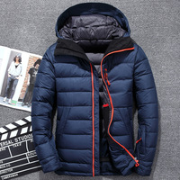 Winter Jacket Men Brand Clothing Slim Dress Casual Thin Warm Long Sleeve Male White Down Jacket