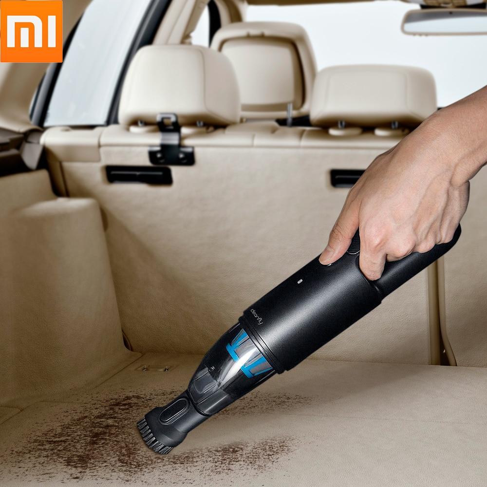 M, Xiaomi voiture aspirateur Cleanfly Fvq mini sans fil portable Cleaner 2In1 Buse Avec lumière led chargeur de voiture Hepa Filtre