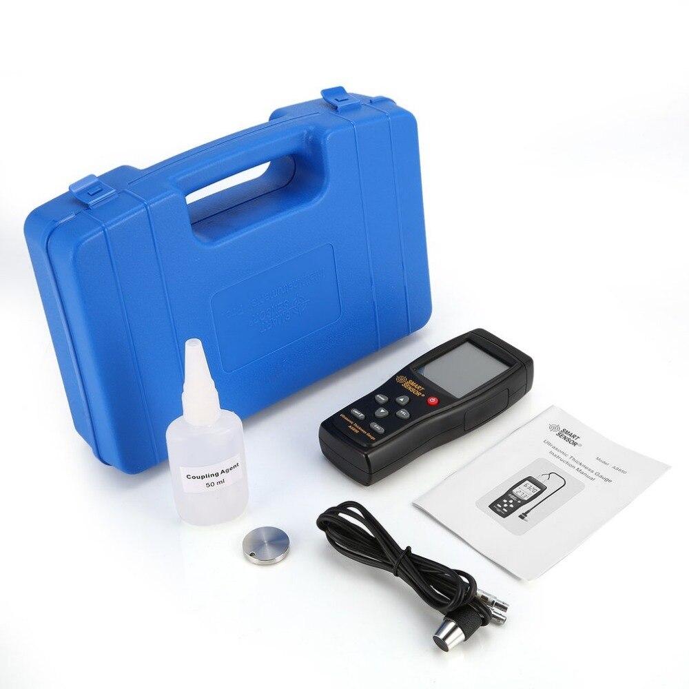 SMART SENSOR AS850 Ultrasonic Thickness Gauge Tester Sound Velocity Meter Metal Width Measuring Instrument 1.2 to 225MMSMART SENSOR AS850 Ultrasonic Thickness Gauge Tester Sound Velocity Meter Metal Width Measuring Instrument 1.2 to 225MM