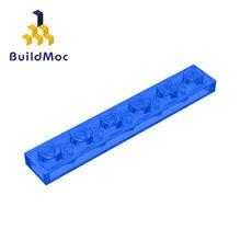 BuildMOC uyumlu toplar parçacıklar levha 3666 1x6 yapı taşları DIY LOGO eğitim yüksek teknoloji yedek oyuncaklar