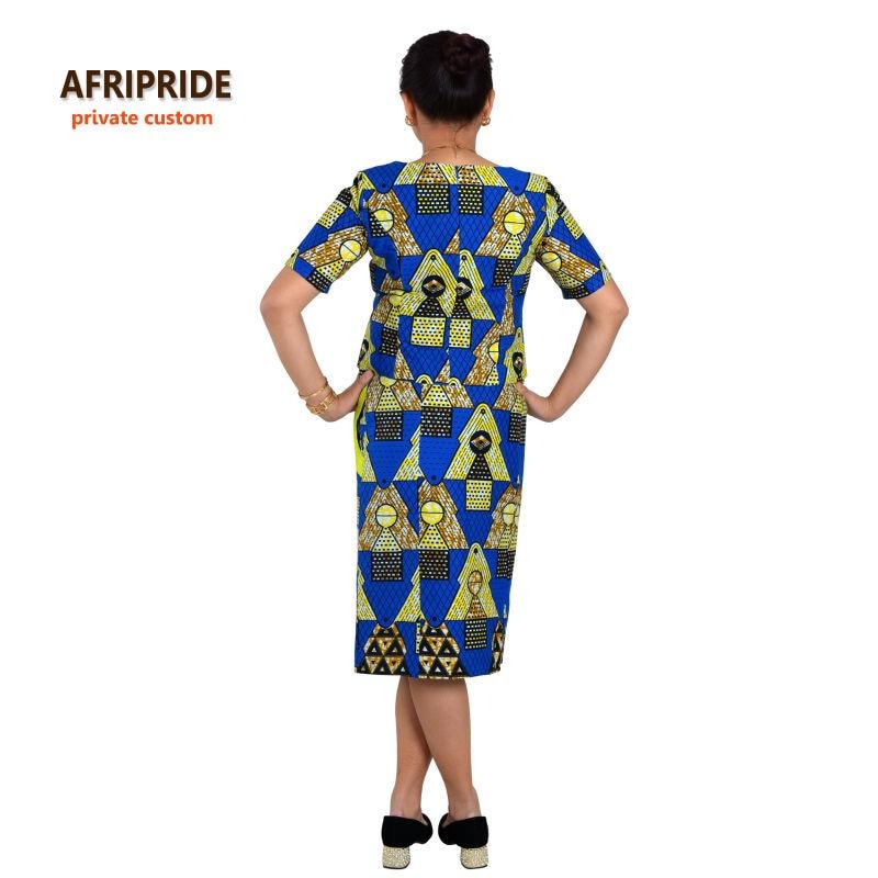 Saman gaya 2-bahagian Afrika untuk wanita AFRIPRIDE separuh lengan - Pakaian kebangsaan - Foto 3