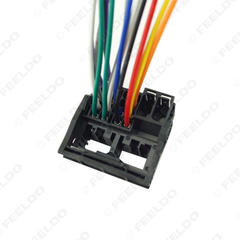 FEELDO Factory Radio Stereo Installation Reverse Male Wire Wiring Harness Plug RCD510 310 For Audi BWM feeldo factory radio stereo installation reverse male wire wiring  at bayanpartner.co