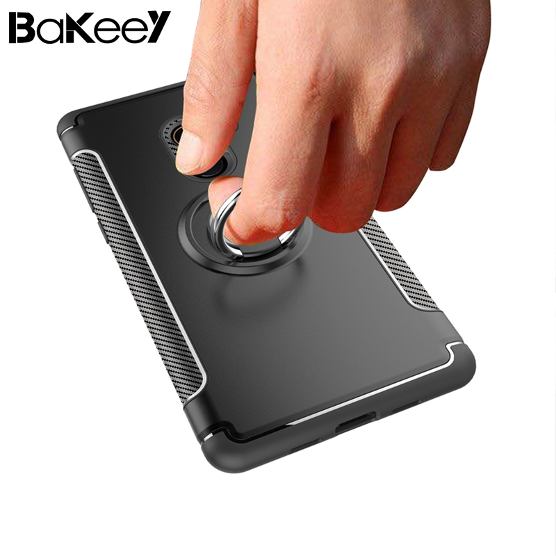 Bakeey New 2 in 1 Shockproof Magnetic 360 Rotation Ring Holder with TPU+PC Back Case For Xiaomi Mi Mix 2 portable car Stands