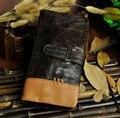 Top Quality 4Col Cattle Men male Organizal Design vintage Genuine leather Credit Card Cash Coin Holder Wallet Purse