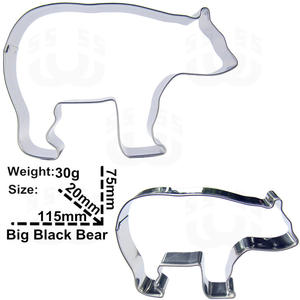 New!Hot! Qaulity Big polar bear stainless steel cookie cutter biscuit mold