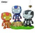Новый FUNKO ПОП-Капитан Америка 3 Железный Человек Мстители ПВХ Гроот дерево человек Винил Фигурку Коллекция Игрушки Куклы для детей 10 СМ