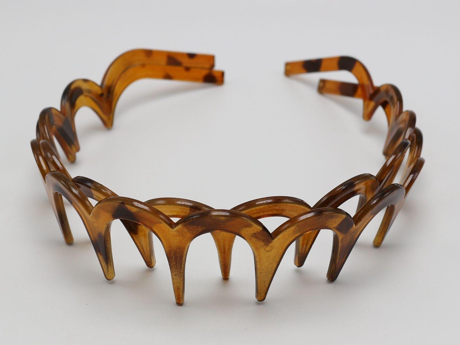8 Кофе Пластик волна волос гребень оголовье 32 мм с глубокой зубы волос accessor