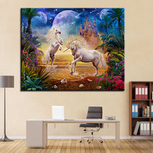 DIY Unicorns Painting By Numbers Picture
