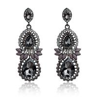 dc23-5 European Exaggeration Design Crystal Rhinestone Waterdrop Earrings New Fashion Luxury Elegant Drop Earrings Free hipping