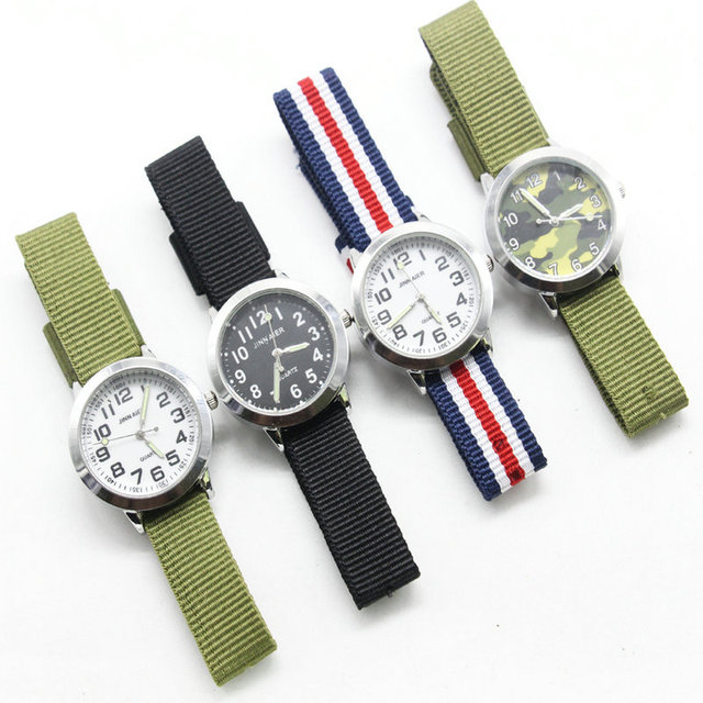 new arrived fashion children cute learn to time number quartz watch kids luminou