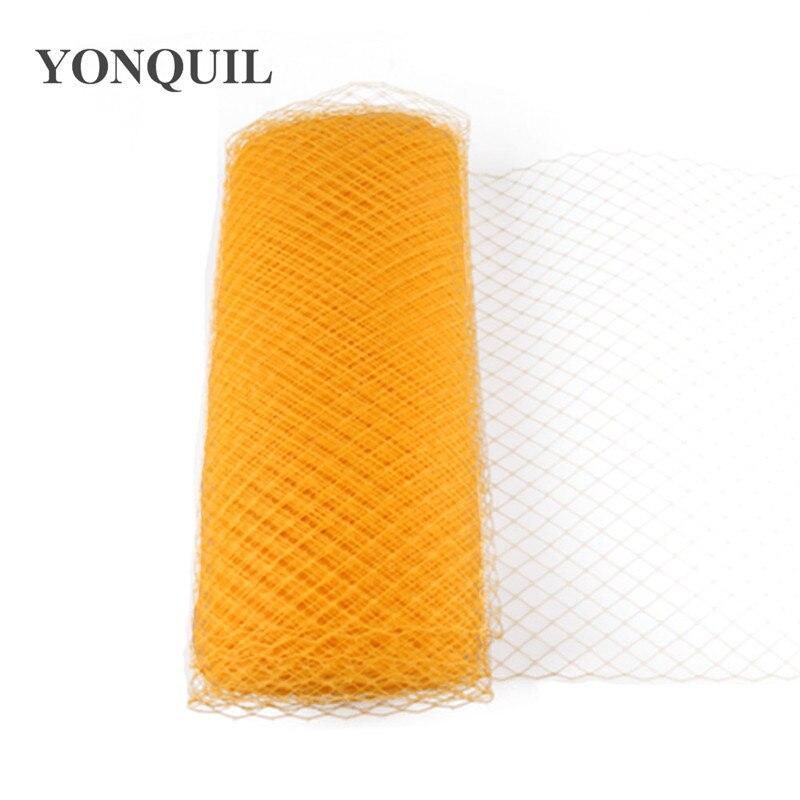 25 см клетка для птиц вуали для вуалеток свадебный аксессуар для волос шляпка для миллинери DIY вечерние головные уборы несколько цветов Новое поступление - Цвет: Цвет: желтый