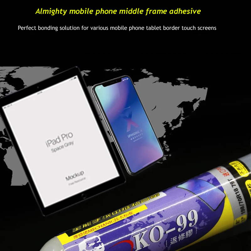 Jyrkior KO-99 Mobile Phone Middle Frame Bezel Rear Glass Repair Glue And For iPhone x Samsung iPad LCD Screen Rework Adhesive