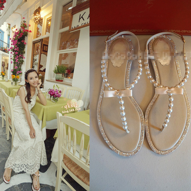 RENé CAOVILLA Pearl detail sandals rus6Ii