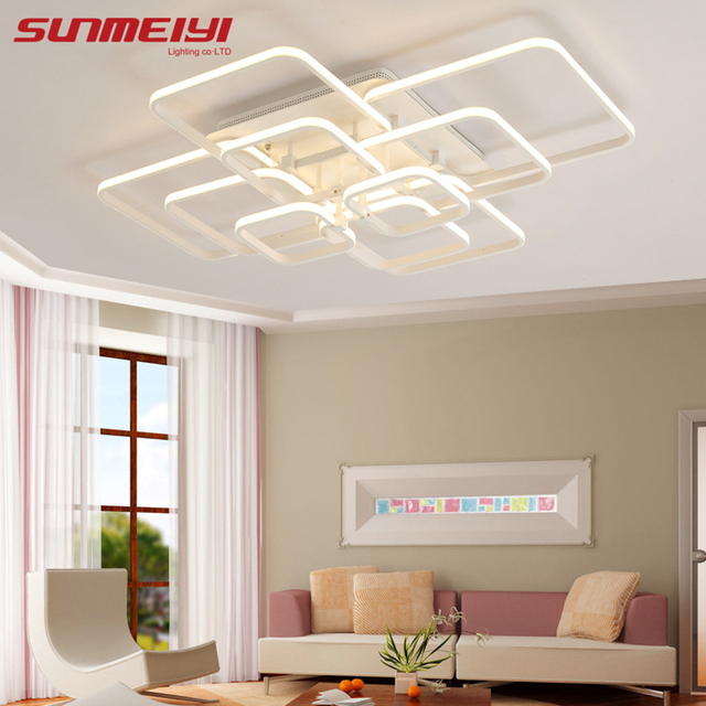2017 new modern led acrylic ceiling lights fixture rectangular living room lights luminarias de interior home - Modern Light Fixtures For Living Room