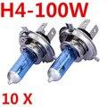 10x H4 100 W Halogênio Xenon farol Baixo Feixe de Luz Auto Lâmpadas Dos Faróis P43T Super 6000 K 12 V para Ford Estacionamento Car Styling Frete Grátis