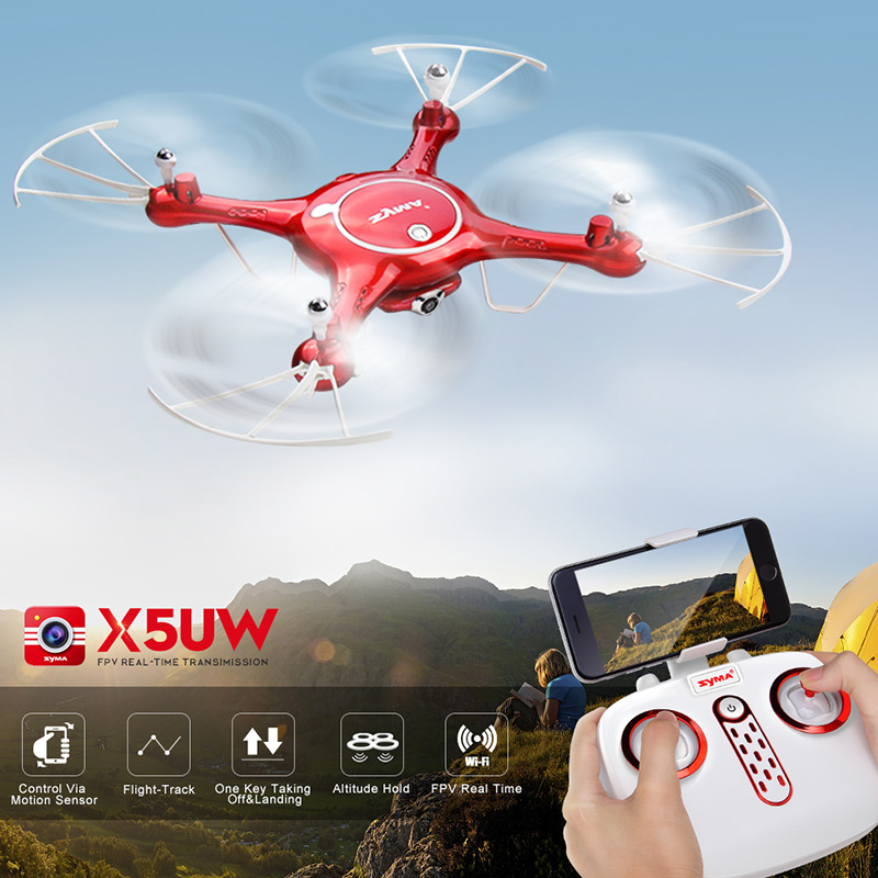 X5UW Drone with Wifi Camera RC Helicopter FPV Real-time Remote Control Quadcopter By Syma rc helicopter q212 q212k q212g 5 8g fpv