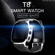 With Camera Bluetooth T8 Smart Watches Pedometer GSM SIM Spo