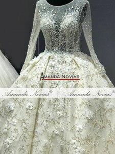 Image 5 - מדהים אמיתי עבודת חתונה שמלה 2021 robe דה soiree