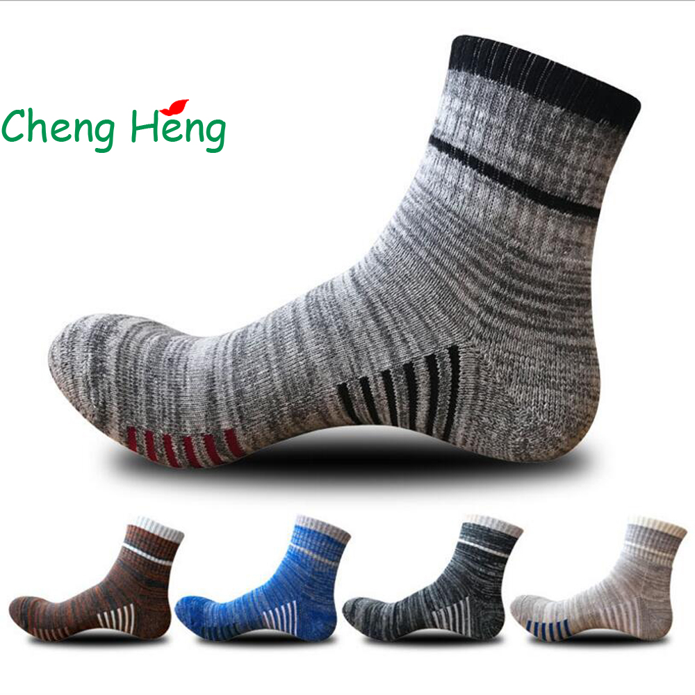 CHENG HENG 5 Pairs/bag High-quality Autumn And Winter New Mens Socks Soles Thickened Cas ...