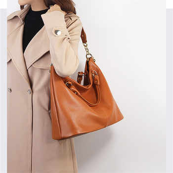 Nesitu High Quality Black Grey Brown Genuine Leather Women Messenger Bags Shoulder Bag Female Lady Handbags A4 Office Tote M7988