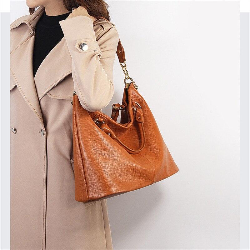 Nesitu Hohe Qualität Schwarz Grau Braun Aus Echtem Leder Frauen Messenger Taschen Schulter Tasche Weibliche Dame Handtaschen A4 Büro Tote M7988-in Taschen mit Griff oben aus Gepäck & Taschen bei  Gruppe 2