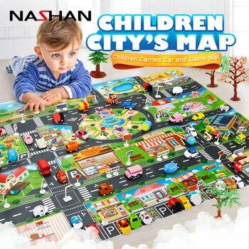 Baby Play Mat Traffic City Map Car Toys Model Crawling Mat Game Pad For Children Interactive Play House Toy Car Mat 130cmx100cm dinosaur world jurassic park scene play mat kids