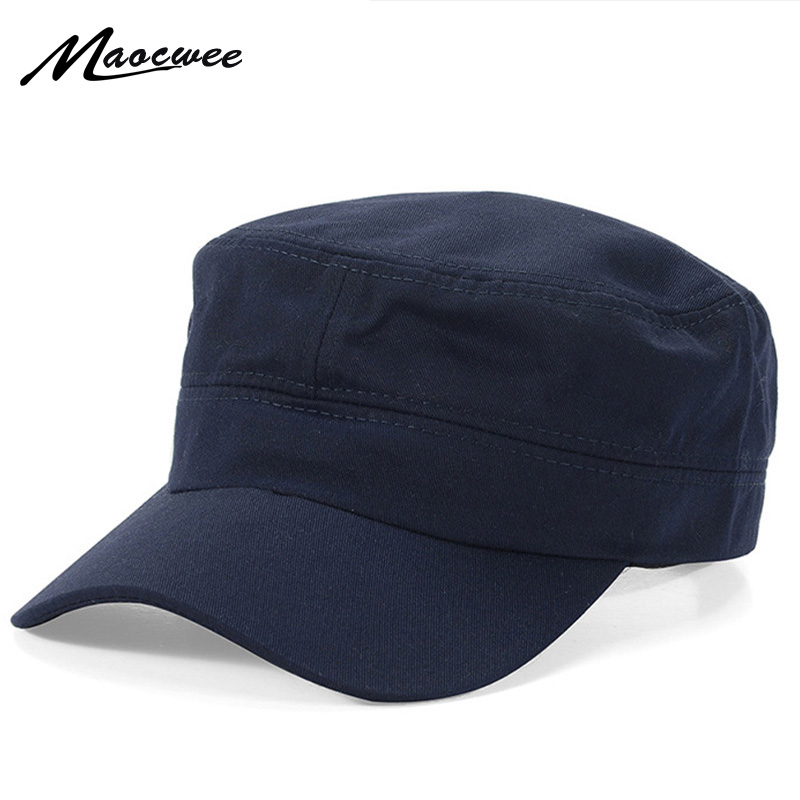 2018 New Classic Women Men Snapback Caps Army Hat Cadet Military Patrol Cap Gorras Baseball Unisex Hats Flat Top Caps image