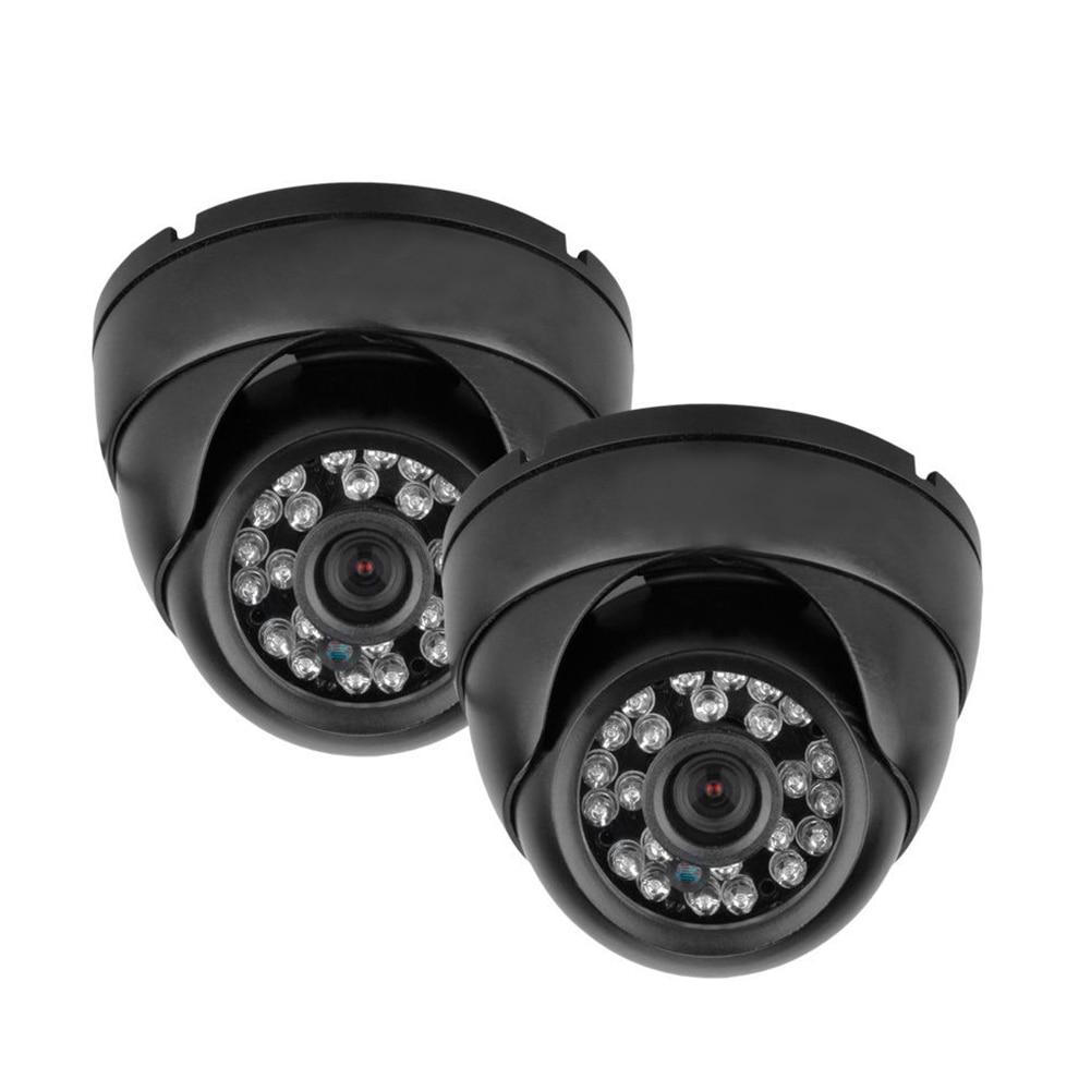 Wholesale 2X 1200TVL Vandalproof CCTV DVR Security System Outdoor Dome Camera Night Vision 2016 economic cmos 2 0 megapixel 1080p vandalproof waterproof ahd dome cctv camera system