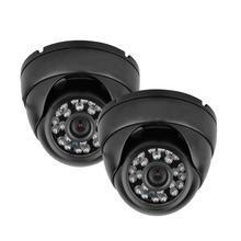 Wholesale 2X 1200TVL Vandalproof CCTV DVR Security System Outdoor Dome Camera Night Vision