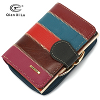 2018 New Brand Design 100 Real Leather Wallets Women Zipper Hasp Coin Purses Female Vintage Wallet