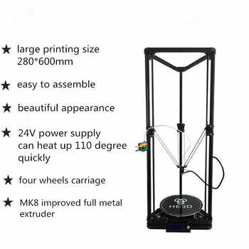 HE3D K280 delta large size Auto- leveling single extruder the newest DLT-K280 3D printer DIY kit with heatbed - DISCOUNT ITEM  66% OFF All Category