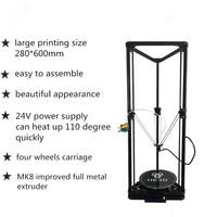 HE3D K280 delta large size Auto leveling single extruder the newest DLT K280 3D printer DIY kit with heatbed